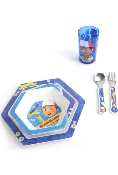 Trudeau 2 Set Beraber 5'li Disney Minnie Bebek Mama Seti + 5'li Disney Handy Manny Çocuk Yemek Takımı