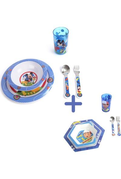 Trudeau 2 Set Beraber 5'li Disney Mickey Çocuk Yemek Takımı + 5'li Disney Handy Manny Çocuk Yemek Takımı