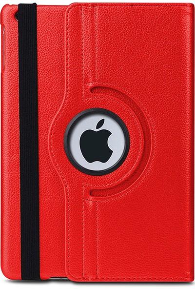 """Esepetim Apple iPad 8. Nesil 10.2"""" Dönerli Tablet Kılıfı Seti A2270, A2428, A2429, A2430 Ekran Koruyucu ve Tablet Kalemi Kırmızı"""