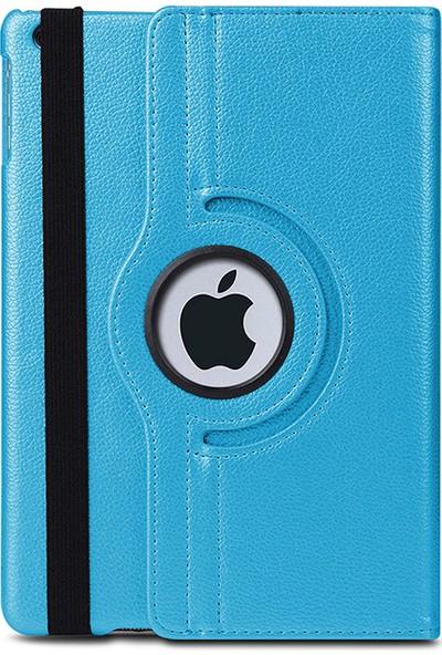 """Esepetim Apple iPad 8. Nesil 10.2"""" Dönerli Tablet Kılıfı Seti A2270, A2428, A2429, A2430 Ekran Koruyucu ve Tablet Kalemi Turkuaz"""