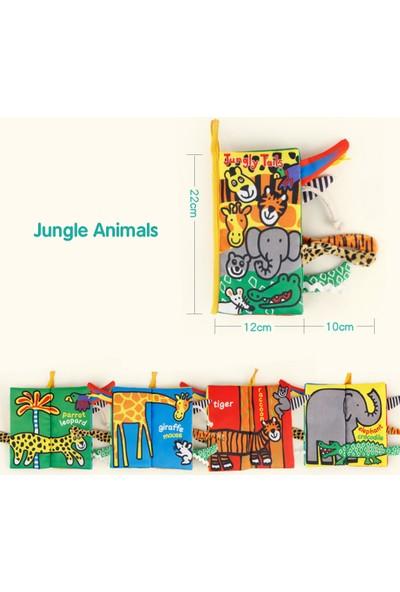 Buyfun Bebek Kuyruk Bez Kitap Orman Hayvanlar Buruşuk Yumuşak