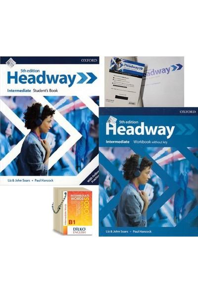 Headway 5th Edition Intermediate Kodlu Set & Intermediate Words (Kelime Kartı B1)
