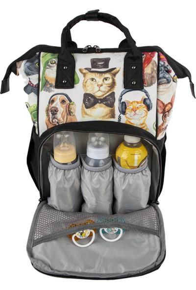 The Kangaroo Bag Luxury Üst Kedi ve Köpek Desenli Çanta