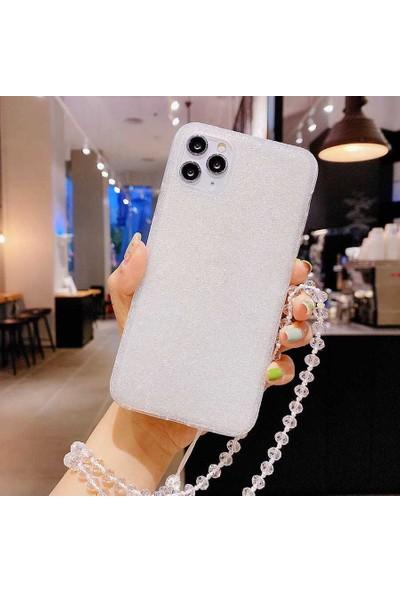 Zümrah Apple iPhone 12 Pro Shine Parlak Taşlı Işıltılı Nano Kapak Kılıf ve Nano Ekran Koruyucu Jelatin