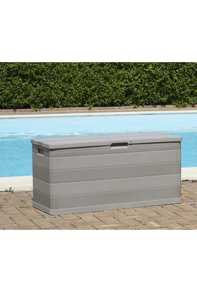 Toomax Multibox Elegance 280L Gri Bahçe Depolama Sandığı, Plastik Sandık