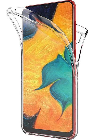 CoverZone Huawei Y7 Pro 2019 360 Tam Koruma Silikon Kılıf Şeffaf
