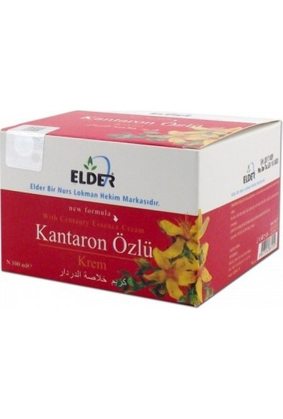 Elder Kantaron Yağı Özlü Kremi