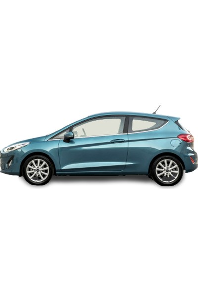 Blue Ford Fiesta Krom Cam Çıtası 8 Parça 2009-2018 Paslanmaz Blue-Oto
