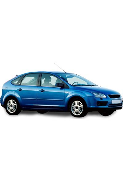 Blue Ford Focus 2,5 Hb Krom Cam Çıtası 2009-2011 4 Parça Paslanmaz Çelik Blue-Oto