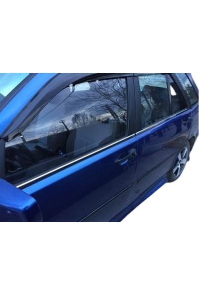 Blue Fiat Tempra Krom Cam Çıtası Paslanmaz Çelik 4 Parça Blue-Oto