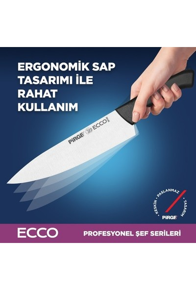 Pirge Gastronomi Bıçak Seti Çantalı 6'li Set