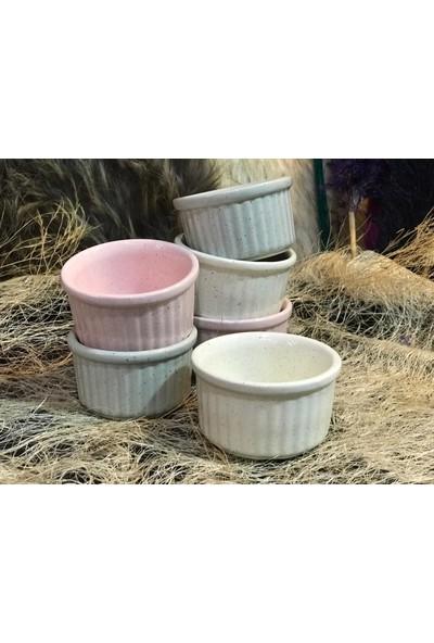 Cooker Renkli Sevimli Sufle Sütlaç Fırın Kabı Granit Desenli
