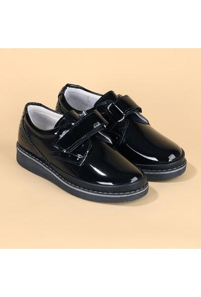 Sanbe 201 S 1202 Rugan Sünnet Erkek Çocuk Ayakkabı Siyah