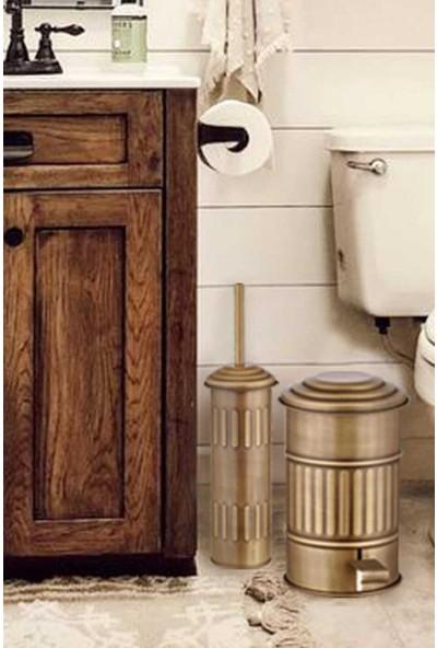 The Mia Altın Kaplama Banyo Çöp Kovası