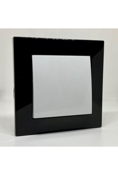 Elbi Vega Anahtar Priz Çerçeveli Siyah Beyaz Renkli