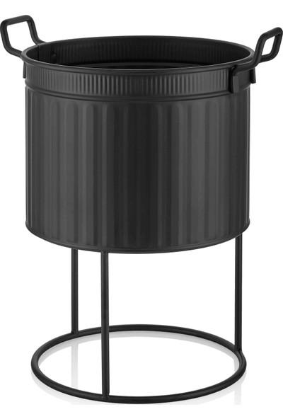 The Mia Saksı 46 x 32 cm Siyah