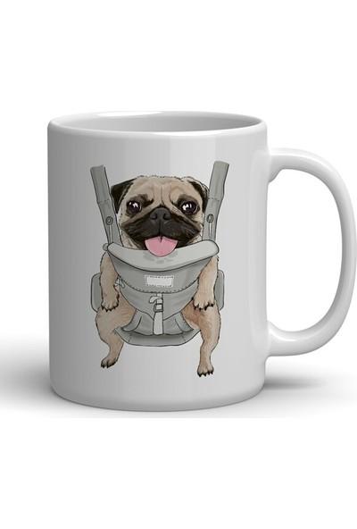 Öztürk Grup Pug Köpek Baskılı Kupa Bardak