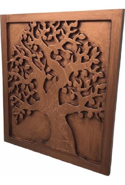 Artsmartix Ahşap Rölyef Kabartma Oyma Dekoratif Eskitme Ağaç Tablo
