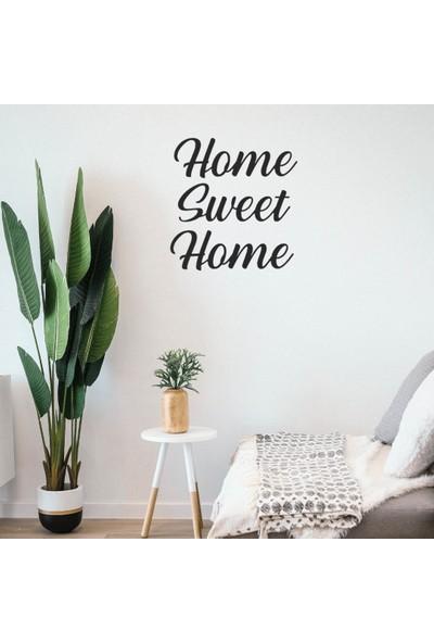 Omart Design Home Sweet Home Metal Duvar Yazısı