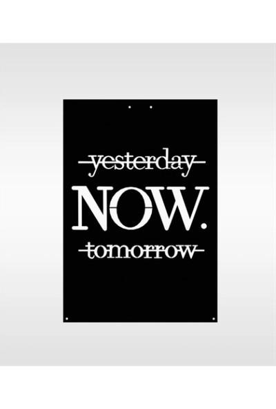 Omart Design Yesterday Now Tomorrow Metal Duvar Aksesuarı