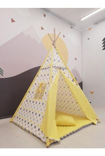 Amazingo Kızılderili Minderli Çocuk Oyun Çadırı 100% Pamuk Kumaş