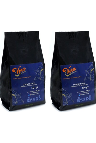 Vera Kahvecilik London Tale Blend Filtre Kahve 500 gr (French Press)