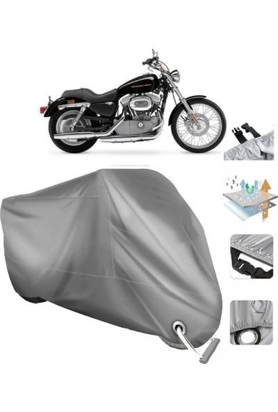 Autoen Harley-Davidson Sportster Custom XL883C Vinleks Branda Arka Çanta Uyumlu