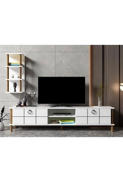 Ayaz Home Lotus Tv Ünitesi Beyaz