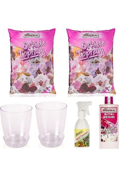 Gül Çiçek Sarayı Orkide Çiçek Seti, Hastalıklara Karşı Ilaç, Orkide Besini, Orkide Toprağı, Orkide Saksısı