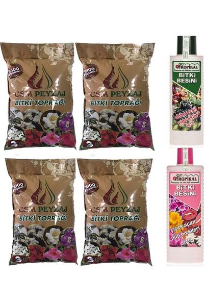 Gül Çiçek Sarayı 12 Litre Toprak ve 2 Adet Çiçek Vitamini, Çiçek Besini ve Çiçek Coşturan