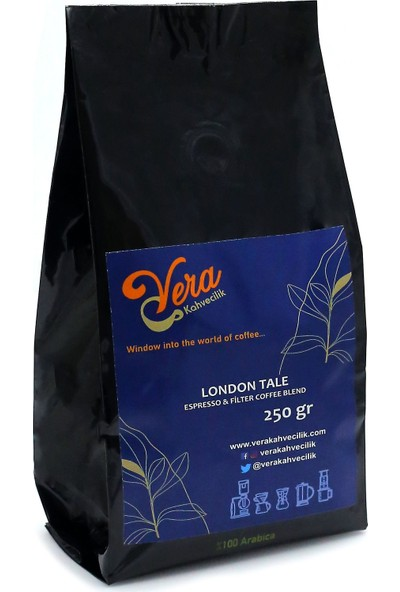 Vera Kahvecilik London Tale Blend Filtre Kahve 250 gr (French Press)