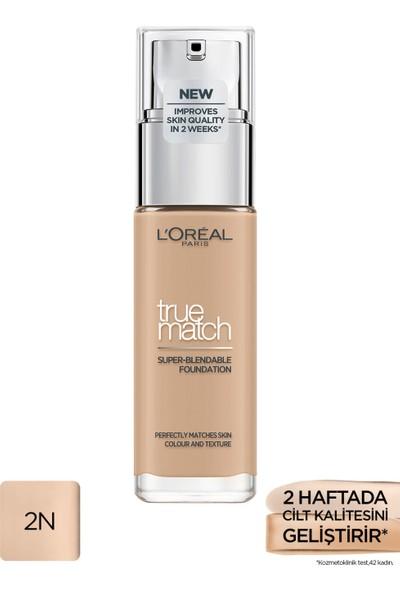 L'Oréal Paris True Match Bakım Yapan Fondöten 2N Vanılla
