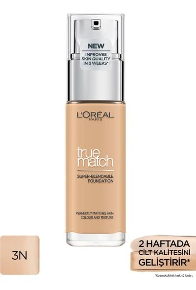 L'Oréal Paris True Match Bakım Yapan Fondöten 3N Creamy Beıge