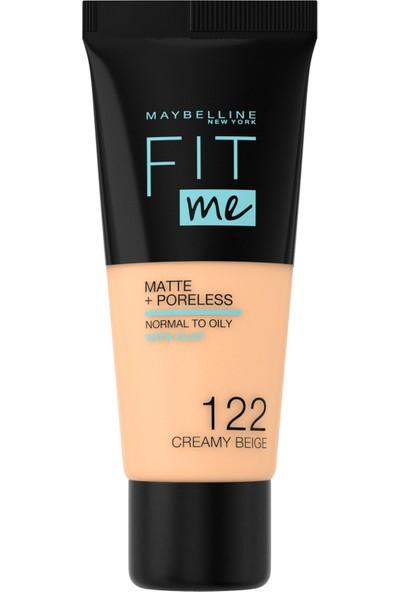Maybelline New York Fit Me Matte+Poreless Fondöten - 122 Creamy Beige