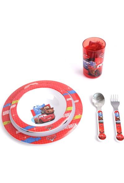 Trudeau 2 Set Beraber 5'li Disney Cars Çocuk Yemek Takımı + 5'li Disney Handy Manny Çocuk Yemek Takımı