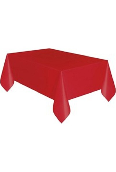 Acar Süs Kırmızı Plastik Masa Örtüsü