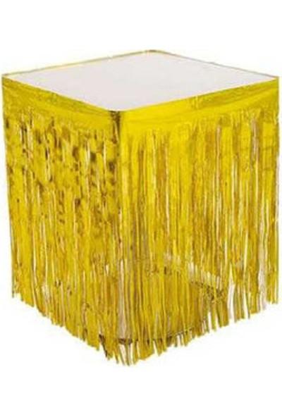 Acar Süs Metalize Altın Renk Masa Kenarı Eteği
