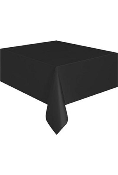 Acar Süs Siyah Plastik Masa Örtüsü