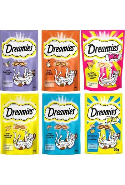 Dreamies Kedi Ödülü Karışık Avantaj Paketi 6'lı