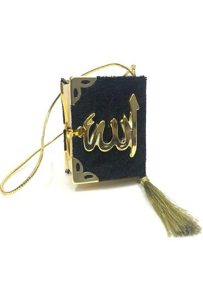 Mini Kadife Kaplı Kuranı Kerim Siyah -25 Adet