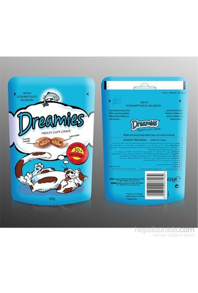Dreamies Dreamiessomon Balıklı Kedi Ödül Maması 60 G x 6 Adet