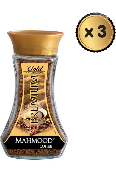 Mahmood Coffee Premium Gold Cam Kavanoz 100 gr x 3 Lü