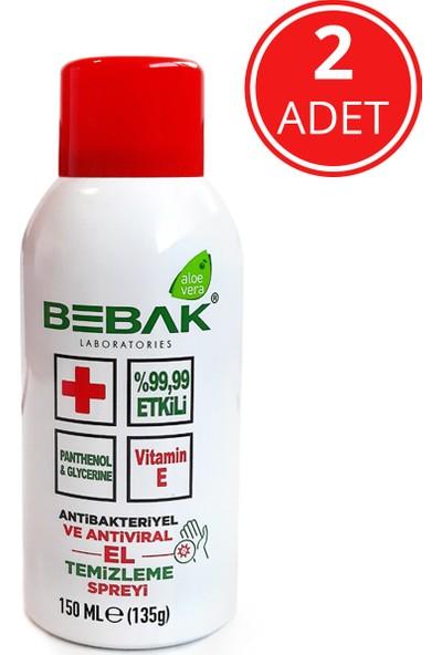 Bebak El Temizleme Spreyi 150 ml - 2 Adet