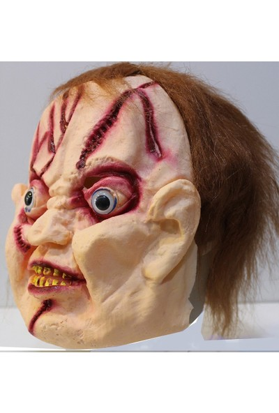 Fenomen Lateks Saçlı Chucky Maskesi
