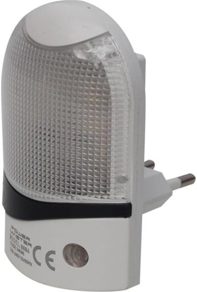 Powermaster 8884 Ledli Fotoselli Sensörlü Gece Lambası 0,5W LD-9011 QL-8884