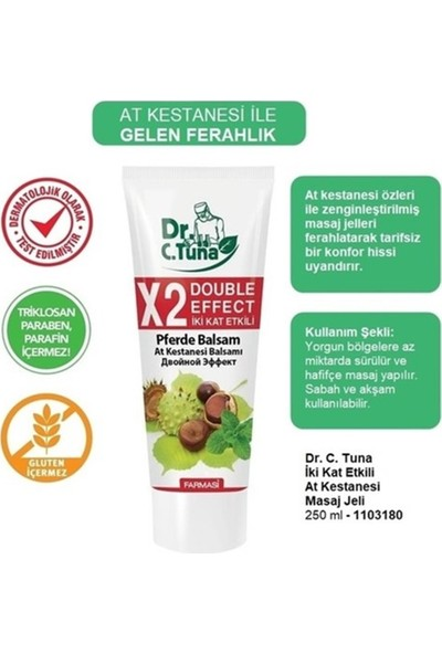Farmasi Dr.c.tuna Çift Etkili At Kestanesi Masaj Jeli 250 ml
