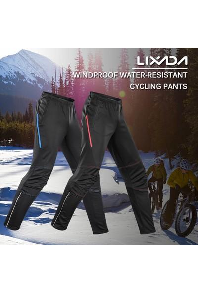 Lixada Erkek Su Geçirmez Bisiklet Pantolon Termal Polar