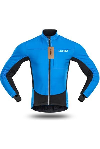 Lixada Erkek Rüzgar Geçirmez Bisiklet Ceket Kış Termal
