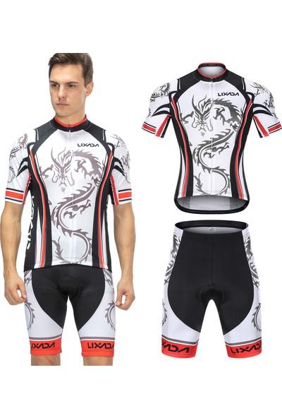 Lixada Erkek Çabuk Kuru Bisiklet Set Bisiklet Gömlek