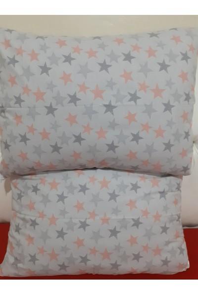 Shine Yastık Kılıfı 2'li 50 x 70 cm Ranforce Kumaş Pamuk